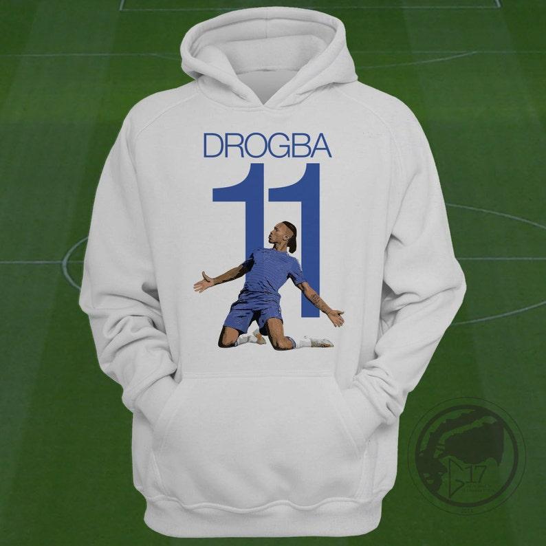 Drogba Chelsea Hoodie Chelsea Fc Soccer Sweatshirt Custom Etsy