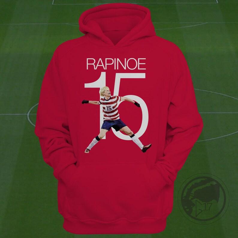 655890c524e Megan Rapinoe USWNT Hoodie Rapinoe Soccer Sweatshirt Size   Etsy