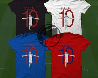 Christian Pulisic T-Shirt - USMNT Player - Size S to Xxxl -Custom Apparel soccer,  world cup tshirt, Christian Pulisic tee, usmnt tshirt