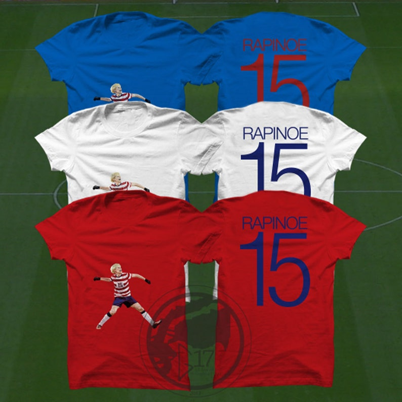 best sneakers ff226 c14b8 Double Sided Megan Rapinoe T-Shirt - USWNT Player - Size S to Xxxl - Custom  Apparel soccer, world cup tshirt, Rapinoe tee, uswnt tshirt