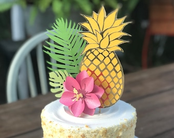 Hawaiian Cake Topper Etsy
