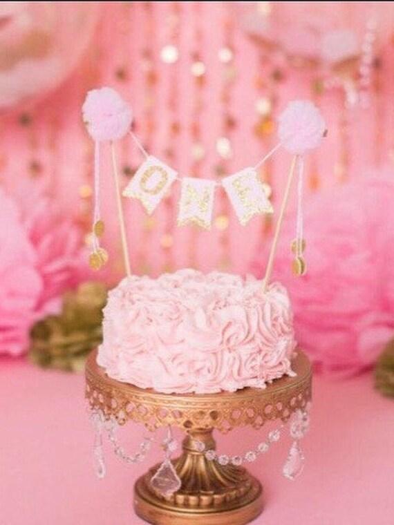 One Cake Topper Babys First Birthday Cake Topper Smash Etsy