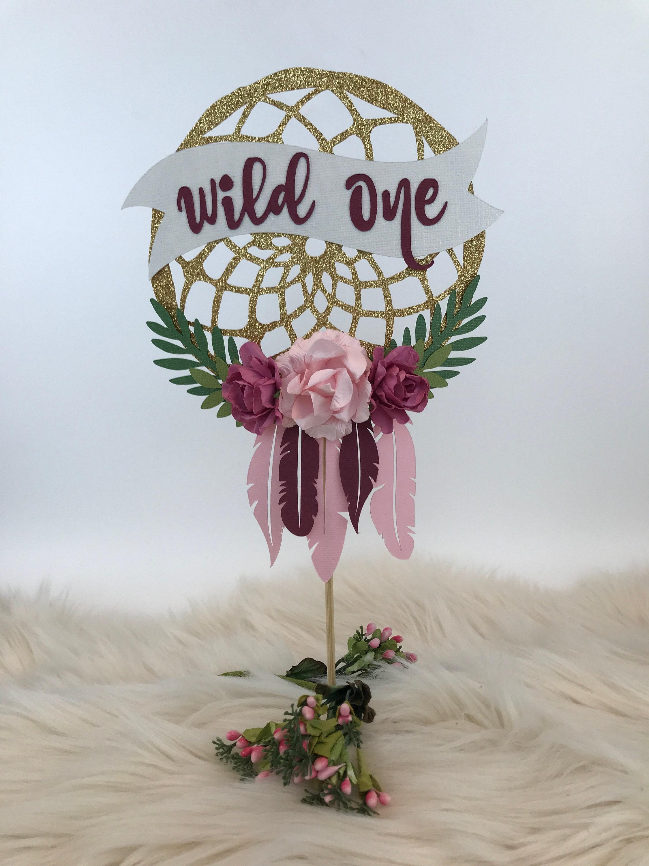 Dream Catcher Boho Cake Topper Wild One Birthday Two Wild ...