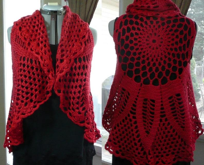 Crochet Circle Vest Bohemian Vest Pineapple Vest Crochet Etsy