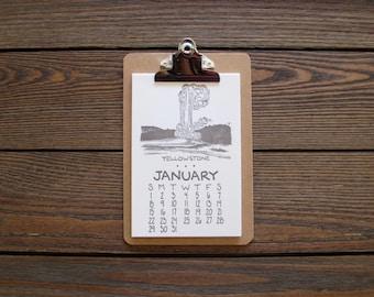 SALE! 2018 Letterpress National Park Calendar