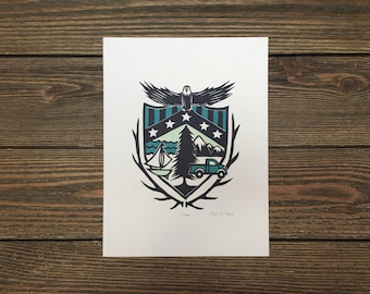 Nursery Outdoors Blue Limited Edition Coat of Arms