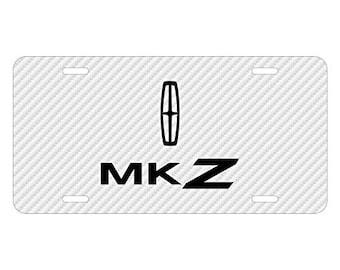 Lincoln Carbon Fiber Texture Black Leather Strap Key Chain Lincoln iPick Image