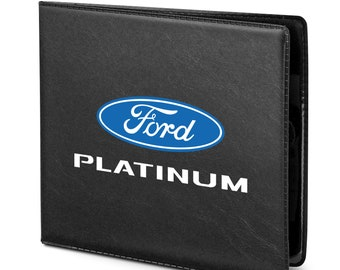 Vehicle Glovebox Card Organizer Wallet Vintage Black, Compact Size ID Card Holder for Essential Automobile Documents FINPAC Car Registration and Insurance Holder