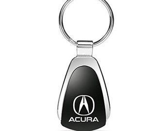 Blue Tear Drop Keychain /& Keyring with Acura TSX Logo