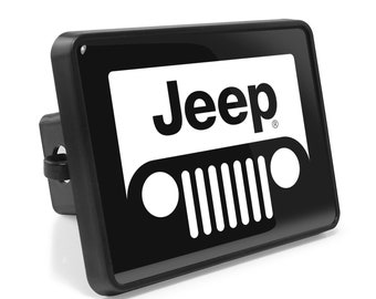 Jeep Renegade Black Metal Plate 2 inch Tow Hitch Cover