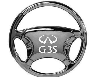 Au-Tomotive Gold INC Infiniti G37 Silver Steering Wheel Key Chain