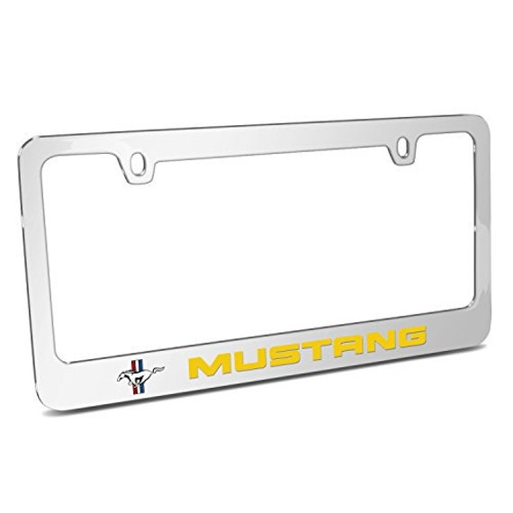 Ford Mustang 5.0 Black Carbon Fiber Texture Graphic UV Metal License Plate