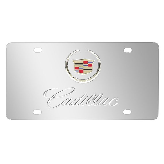 XT4 Cadillac Stainless Steel Metak License Plate Frame Rust Free W// Bolt Caps