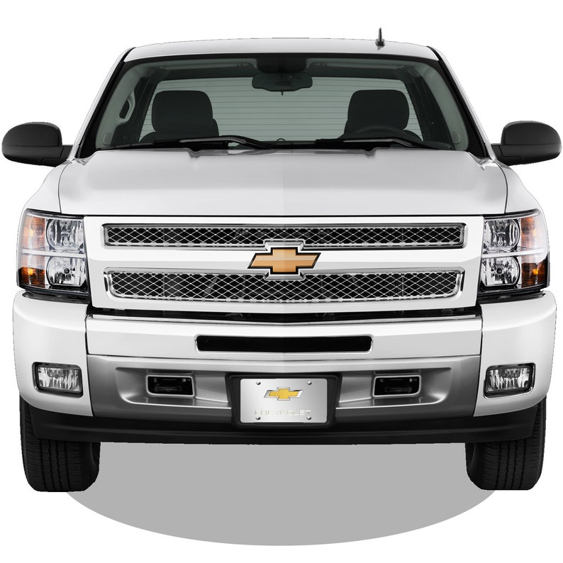 Chevy Gold Bowtie 3D Dual Logo Mirror Chrome Stainless Steel License Plate