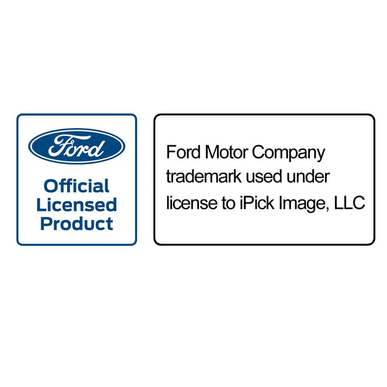 Ford Mustang Tri-Bar 3D Dome Logo on 100/% Real Black Carbon Fiber License Plate