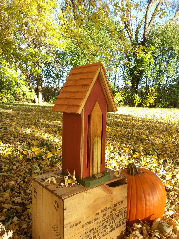 Handcrafted Butterfly House Cedar Rustic Primitive Folk Art | Etsy
