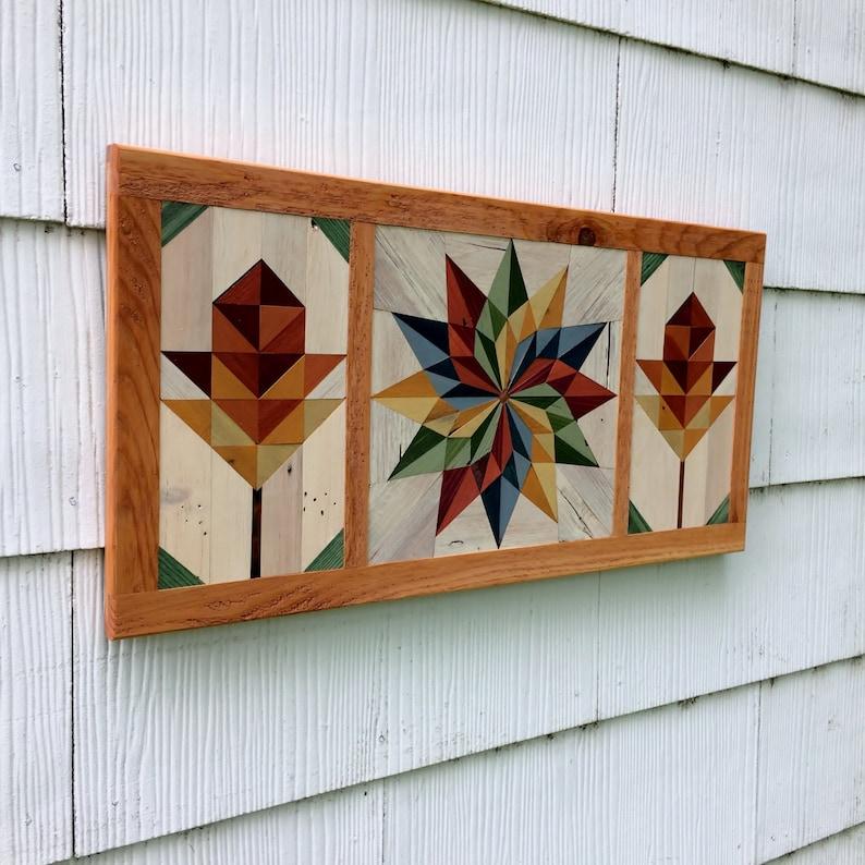Pallet Wood Barn Quilt Mosaic Handmade | Etsy