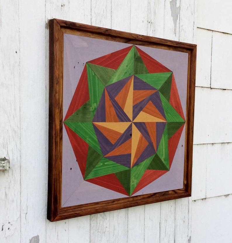 Pallet Wood Mosaic Barn Quilt Handmade Primitive Rustic | Etsy
