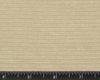"Cream/Beige Silk Stripes 100% Raw Silk Fabric, 48"" Wide, By The Yard (WT-209)"