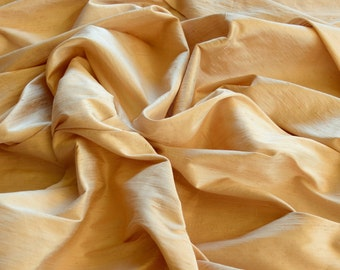"Iridescent Bisque Dupioni Silk, 100% Silk Fabric, 44"" Wide, By The Yard (S-136)"
