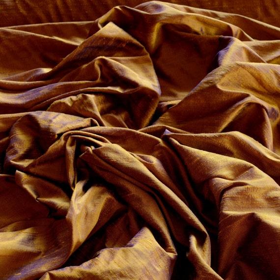 "S-205 Iridescent Ice Green Dupioni 100/% Silk Fabric 44/"" Wide By The Yard"