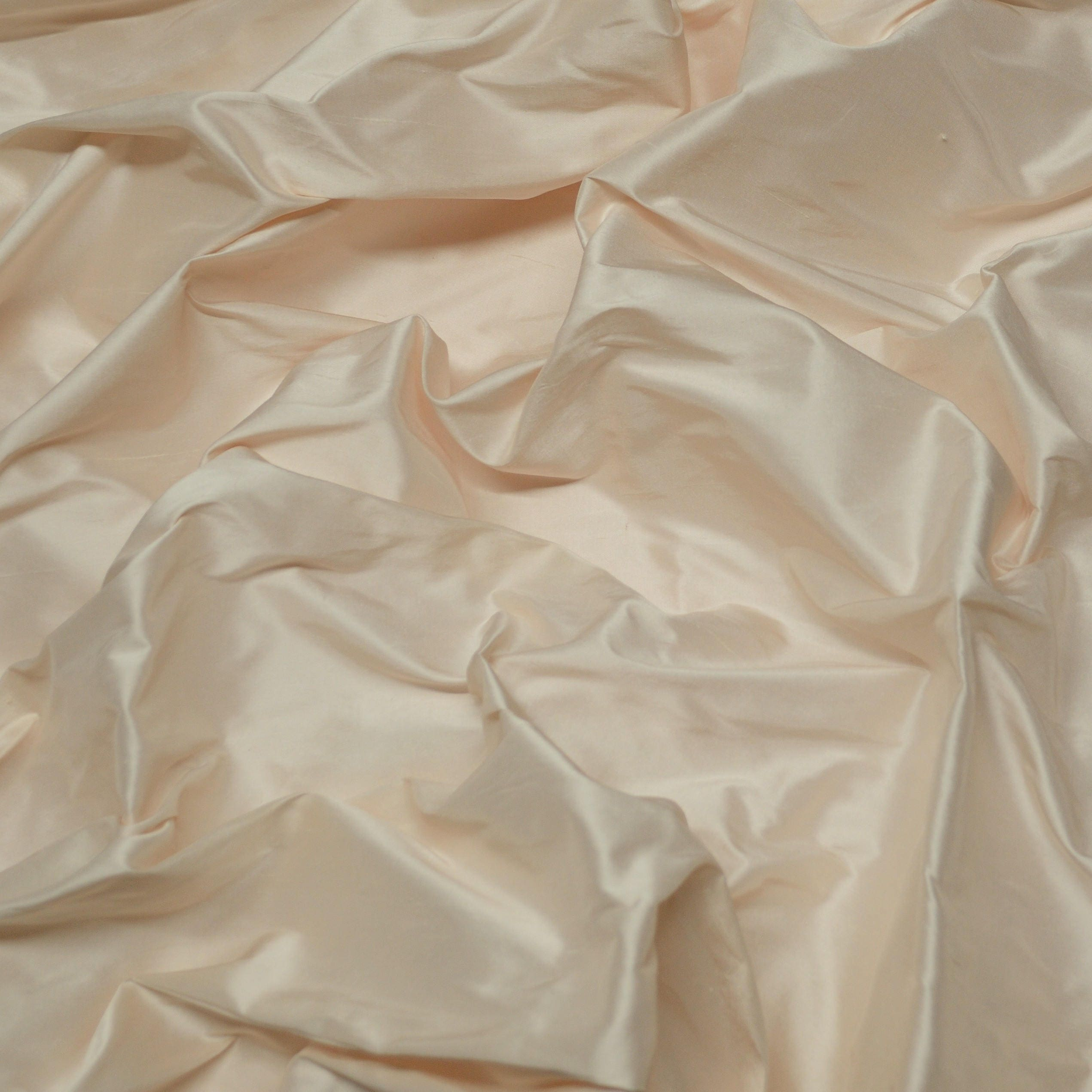 "Iridescent Ivory 100/% Shantung Silk Fabric SF-5002 By The Yard 54/"" Wide"
