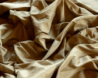"Mud Dupioni Silk, 100% Silk Fabric, 54"" Wide, By The Yard (S-203)"