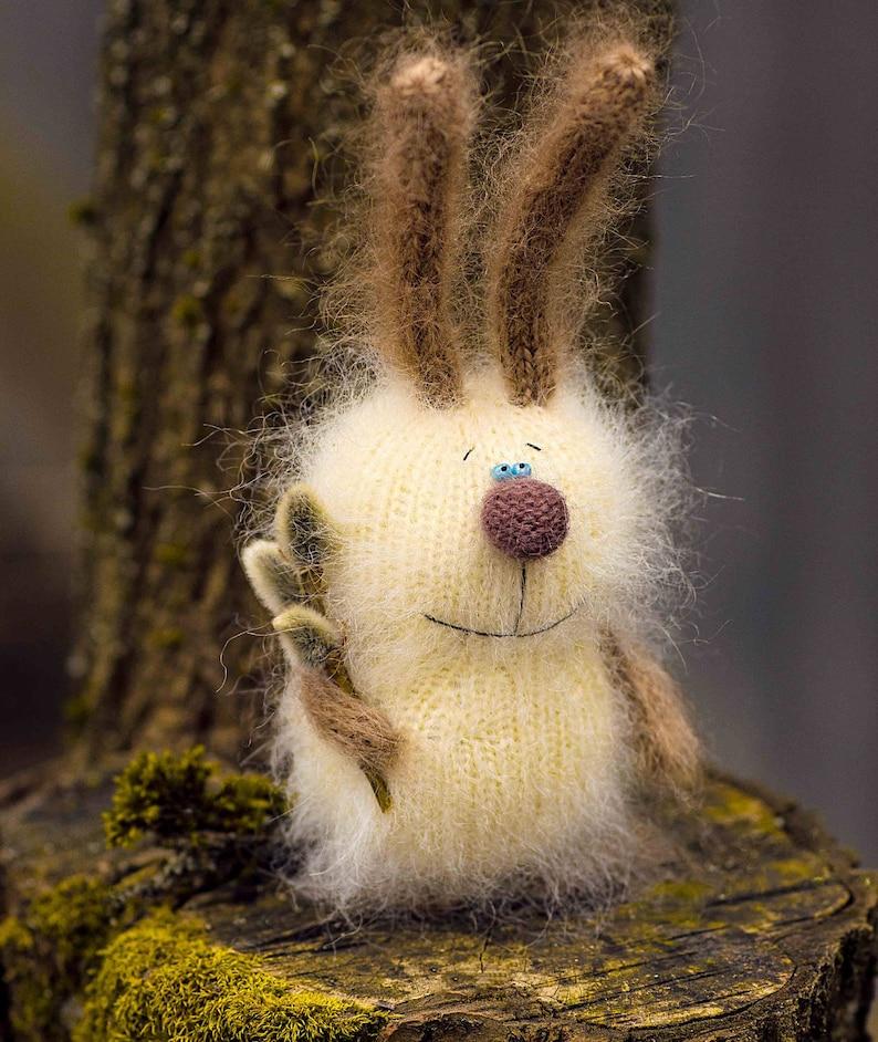 Stuffed Bunny toys hand-knitted rabbit Toy amigurumi bunny Miniature toy stuffed Animal Doll Stuffed Toy Bunny Plush bunny Easter decor toy