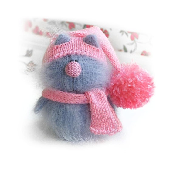 Handmade cat amigurumi toy,