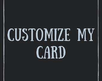 Greeting Card & Art Print Customization