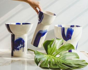 Modern Ceramics Hand Painted Vase Porcelain Vase Ceramic Vase Pottery Vase Living Room Decor Office Decor Coffee Table Decor New Home Gift