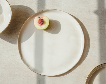 Modern Ceramics Dinner Plate Decorative Ceramic Plate Handmade Pottery Plate Ceramic Dinnerware Porcelain Dinnerware Ceramic Tableware