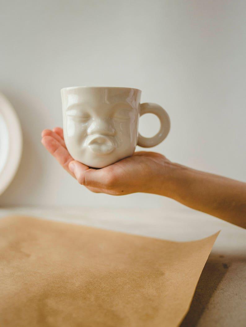 Best Friend Gift Her  Unique Pottery Mug  Sister Gift Tea image 0