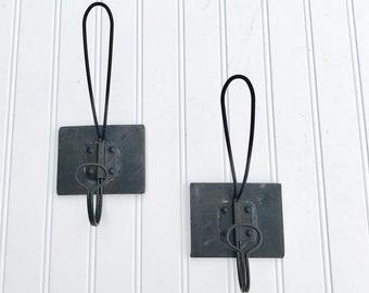 towel hooks bathroom farmhouse hook decor rustic coat rack towel hooks entryway mudroom black hooks etsy