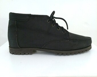c204c443fd2 Black Oiled Leather Tim Style Boots