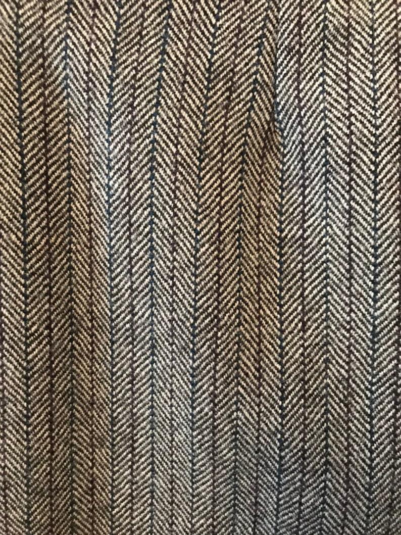 80s Wool Harringbone Suit