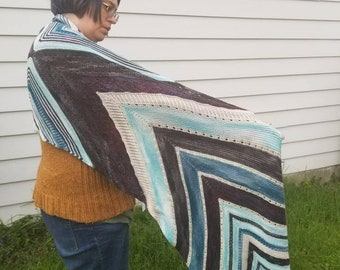 Starting Point Knit Huge Shawl Wrap