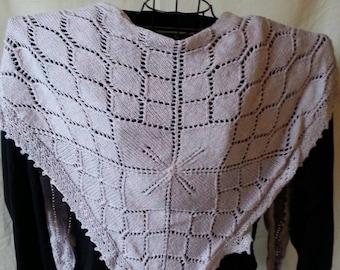 Yorkshire Skies Silk Merino Wool Shawl