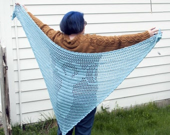Crocheted Moon Goddess  Shawl