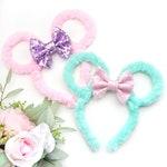 Furry Minnie Sparkle Bow Ears