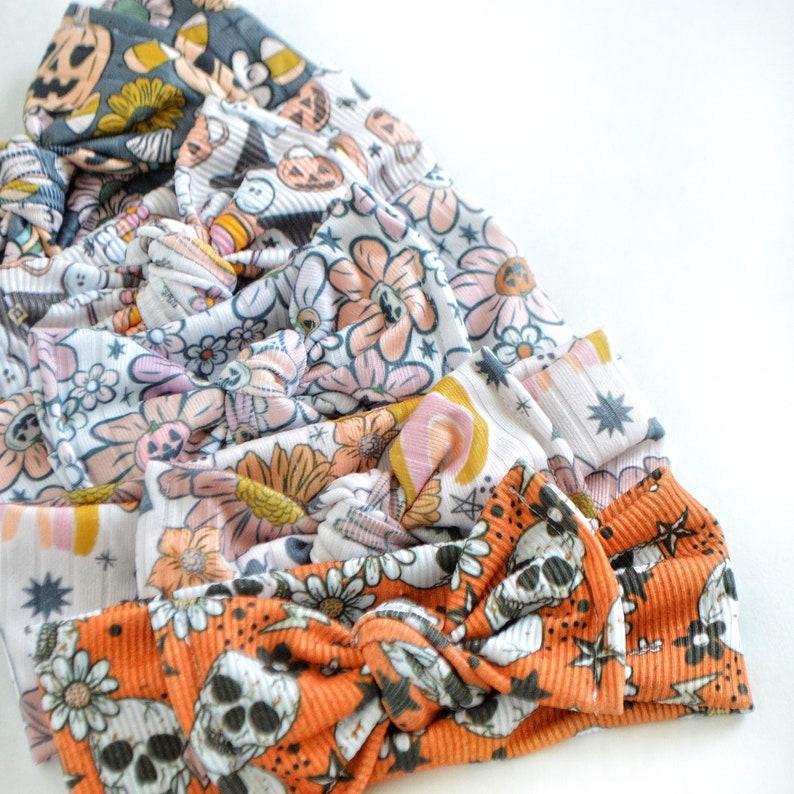 Halloween Tie Headwraps image 1
