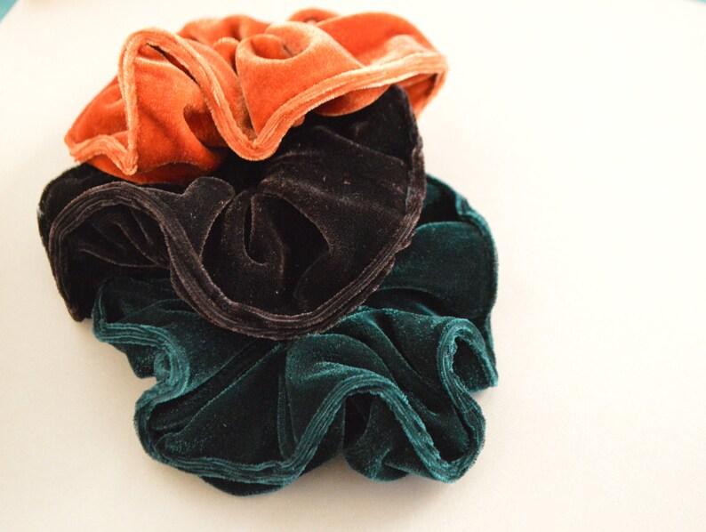 Fall Velvet Scrunchie image 0