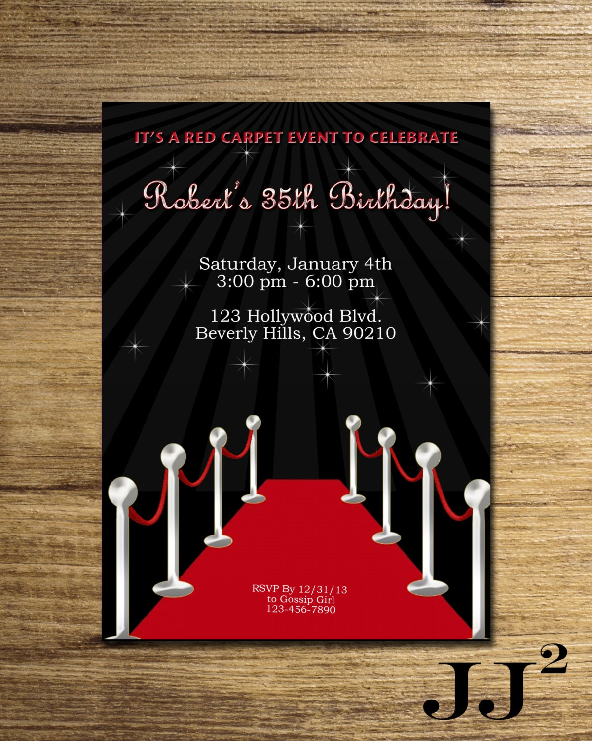 Fantastic Glamour Party Invitations Pattern - Invitations and ...