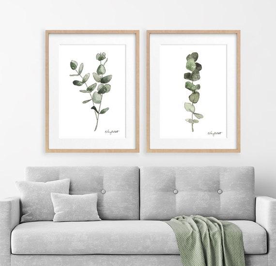 Eukalyptus Aquarell Druck Set 2 Aquarell Malerei | Etsy
