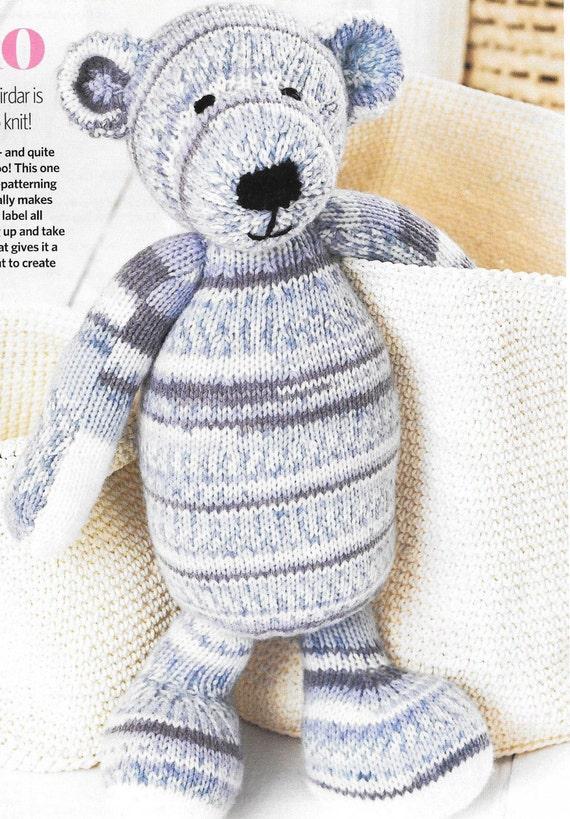 descarga PDF oso de tejer patrón bebé niño Ludo Sirdar | Etsy
