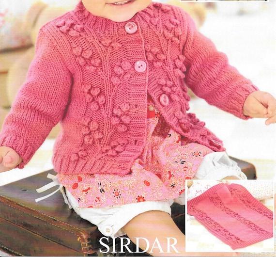 Pdf Knitting Pattern Baby Child Cardigans Sirdar Snuggly Dk Etsy
