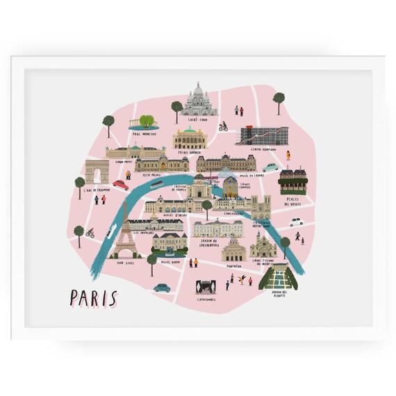 Paris map illustrated art print - map print map illustration city paris on printable map of paris, simplified map of paris, english map of paris, sports map of paris, interactive map of paris, white map of paris, outlined map of paris, high resolution map of paris, history map of paris, fun map of paris, highlighted map of paris, large map of paris, antique map of paris, watercolor of paris, color map of paris, travel map of paris, detailed street map of paris, photography of paris, religion map of paris, illustration of paris,