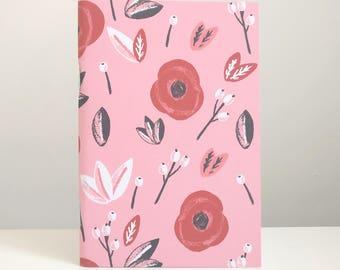 Cahier de coquelicots - carnet de notes florales fleurs notes florales papeterie coquelicots papeterie illustré carnet bullet journal cahier