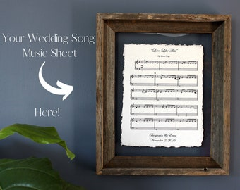 MUSIC Sheet l First Anniversary Gift For Him   1st Anniversary First Dance   2nd Anniversary for Him l Cotton Gift l Wedding Vow Print