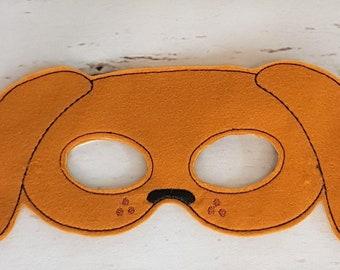 Dress Up, Dog Mask, Children's Dress Up Mask, Dachshund Mask, Felt Dog Mask